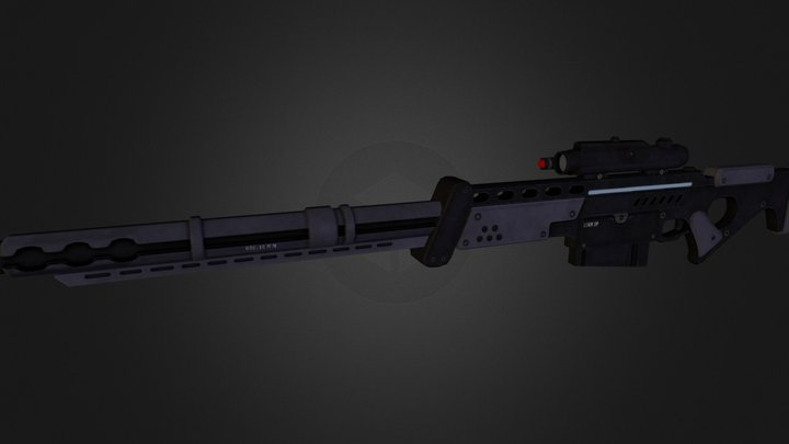 Ghost Rifle 3D Model