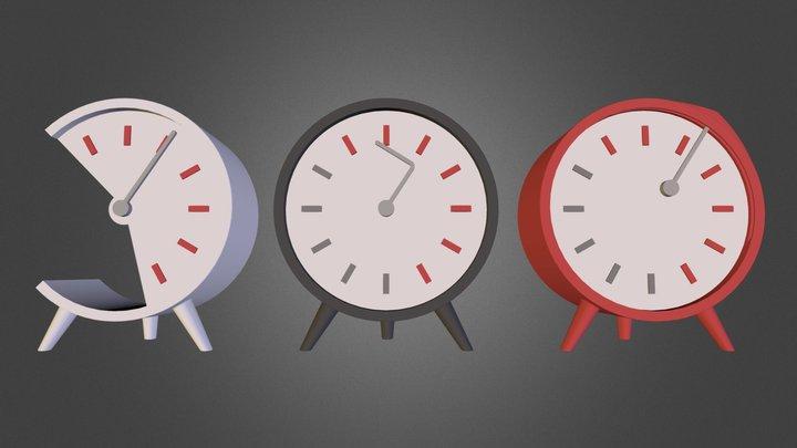 Three Clocks.zip 3D Model