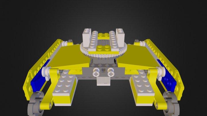 lego 7632 crawler crane base 3D Model