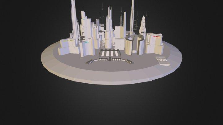Floating City II.3ds 3D Model