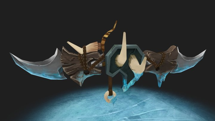 Glaive of the Glacial Winds - WoW Inspired 3D Model