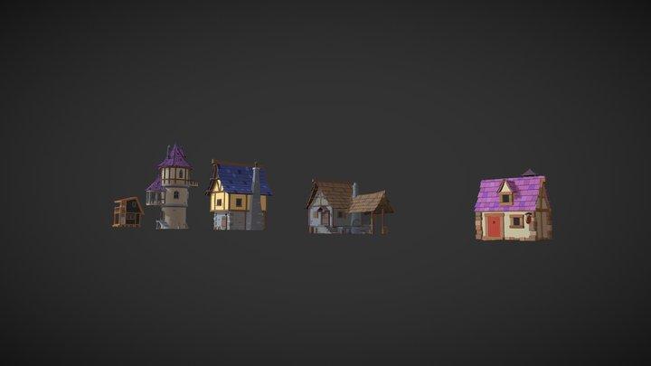 HW - 5. Colorize five models 3D Model
