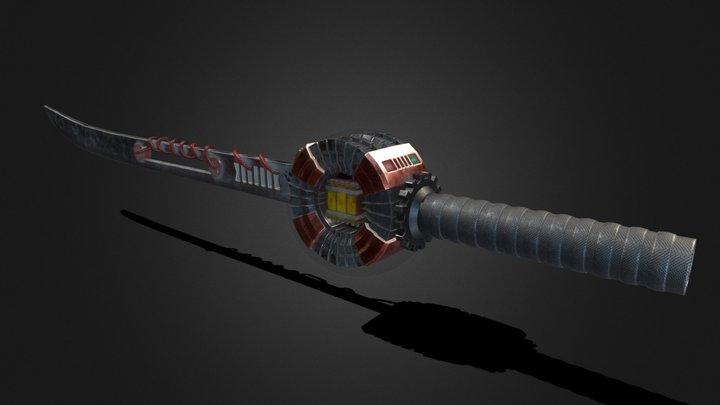 Electric Powered Long Sword 3D Model