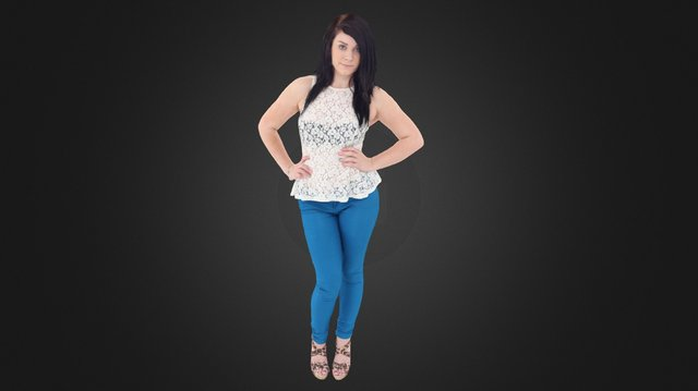 Young Lady 3D Model