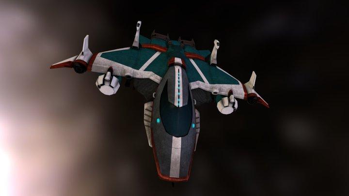 Redshift - Wraith Class Ship 3D Model
