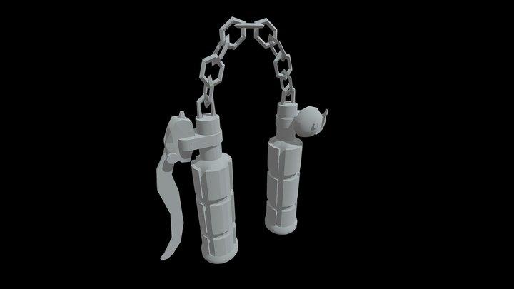 Handlebar Nunchucks 3D Model