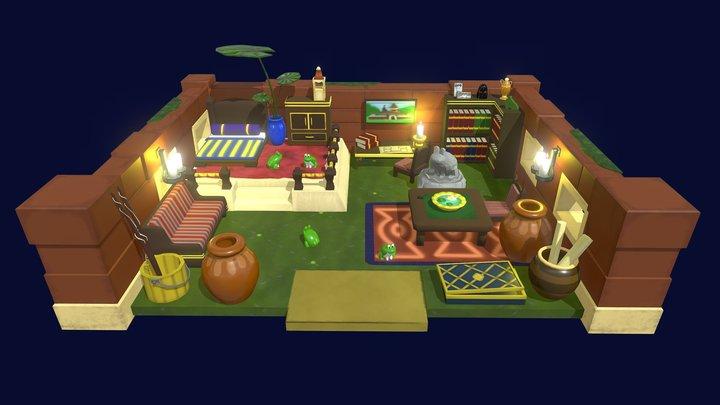 Legend of Zelda Link's Awakening:Richard's Villa 3D Model
