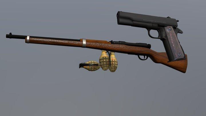 3M_ PROJ_ 01 Vijoyanto(weapon Theme Pack) 3D Model