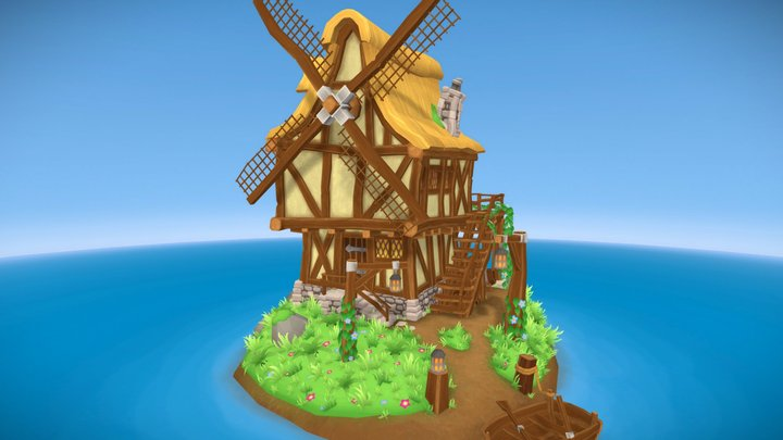 The Wonky Windmill 3D Model