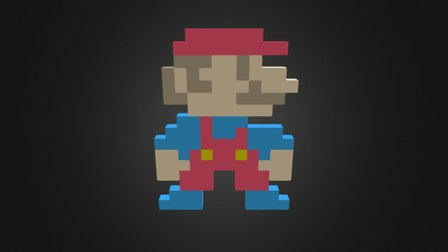 Pixel Art (Mario) 3D Model