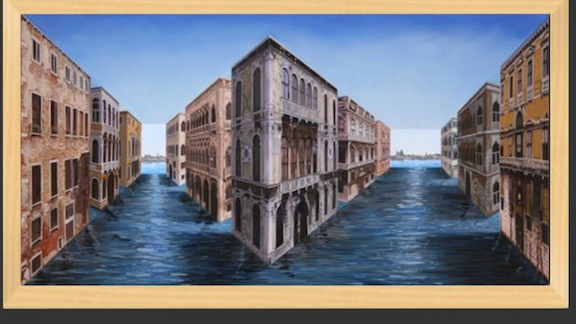 Venice Optical Illusion Painting. 3D Model