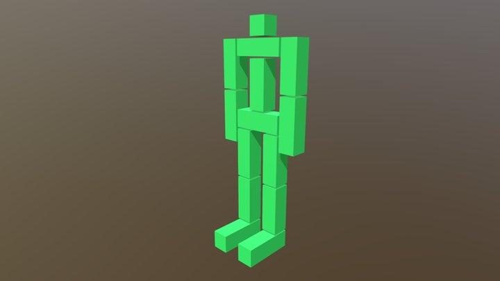 Кубоид мужчина 3D Model