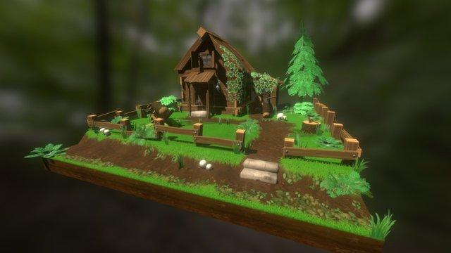 Woodcutter's Hut 3D Model