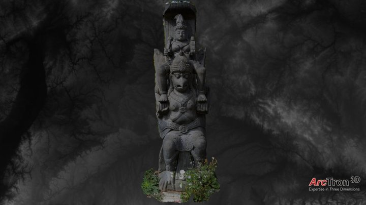 Statue at Nepal Himalaya Pavillon 3D Model