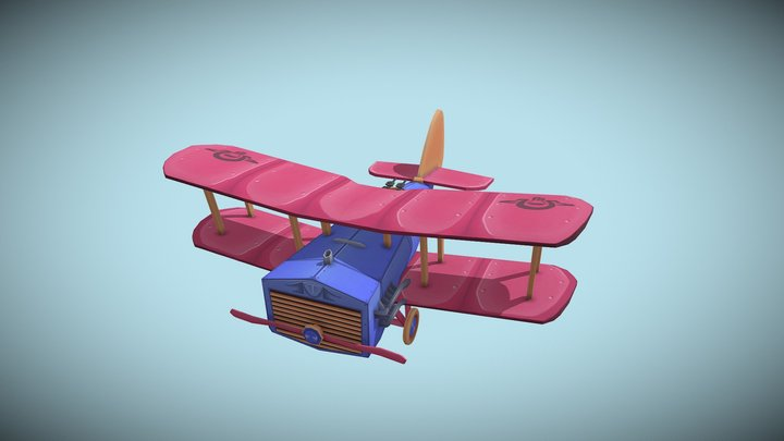 DH.9a NINAK Flying Circus 3D Model