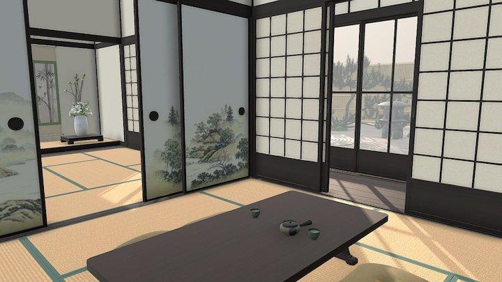 100% Authentic Japanese Style room (Washitsu) 3D Model