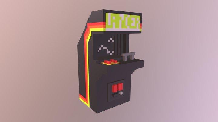 Lander Arcade Cabinet 3D Model