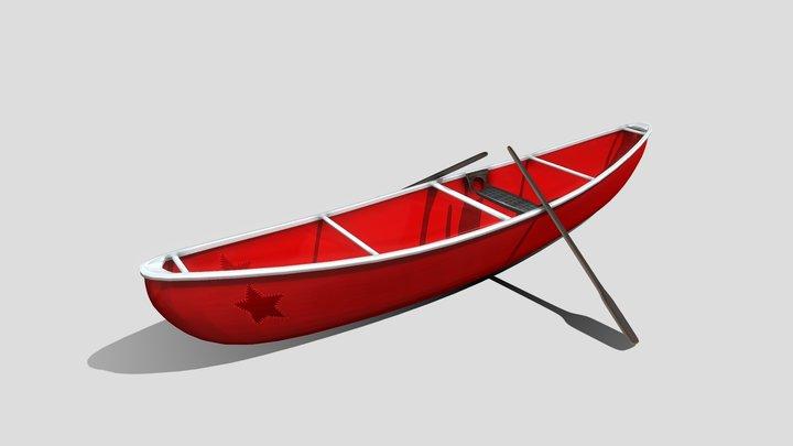 Red Canoe 3D Model