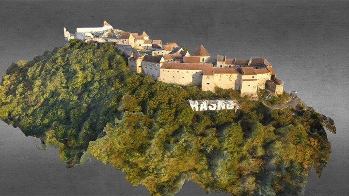 Rasnov fortress from Transylvania- Romania 2014 3D Model