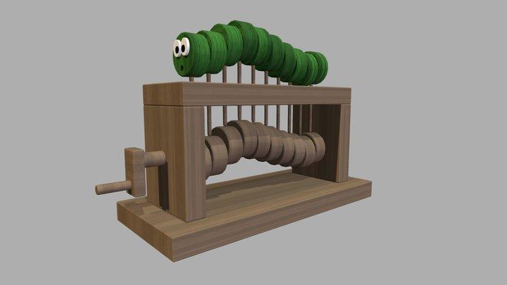 Caterpillar Automata 3D Model