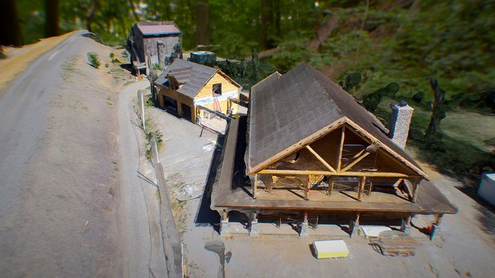2015-6-25 House 1 Const Progress Pix4D Pro 3D Model
