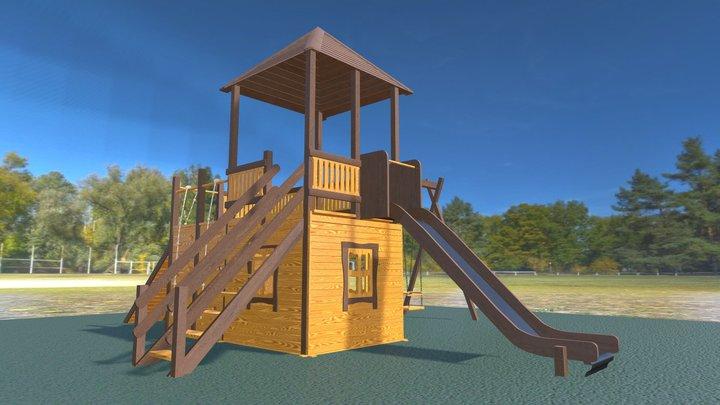 """3702 Детский домик """"Винни"""" 3D Model"""