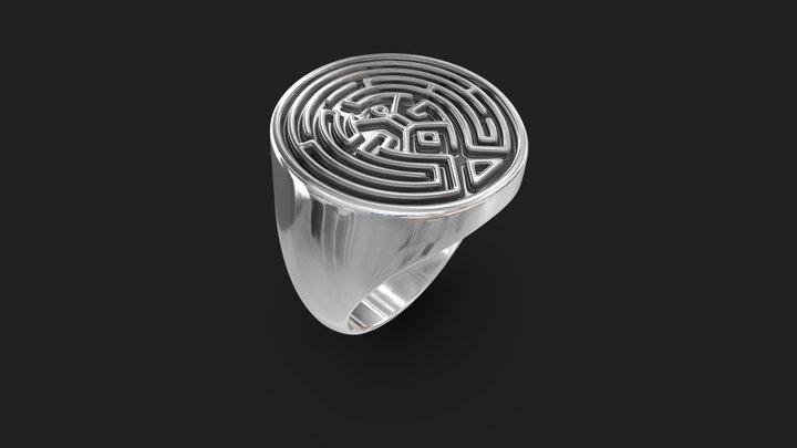Westworld Maze Ring 3D Model