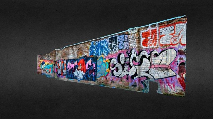 Glasgow Speirs Wharf Graffiti 1 3D Model