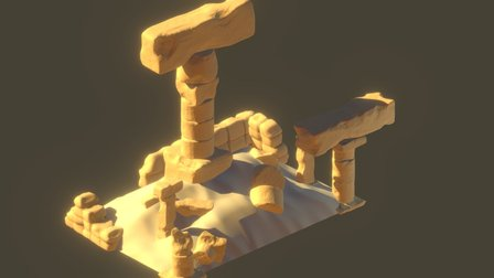 Sand Ruins 3D Model