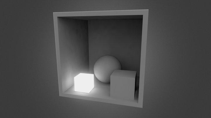 Simple Scene Emissive 3D Model