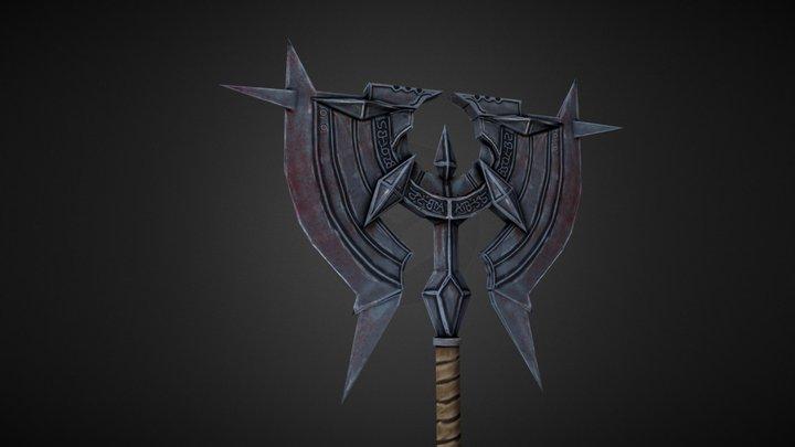 Bloody Battle Axe 3D Model