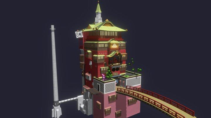 Spirited Away - Bath House 3D Model