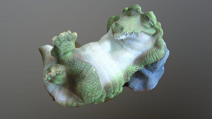 Alligator Figurine 3D Model