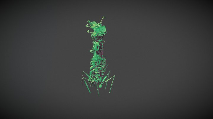 Bacteriophage #1 3D Model