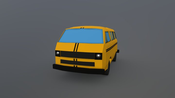 VW Danfo Lowpoly 3D Model