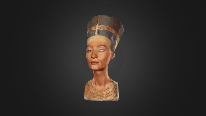Lo-Rez Nefertiti w/Lo-Rez Texture 3d4aw18 3D Model