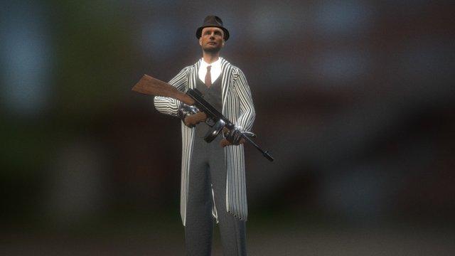 1920's Gangster 3D Model