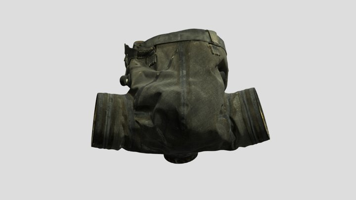Gas mask for a horse 3D Model