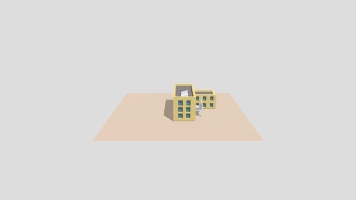 Hospital Low Poly 3D Model