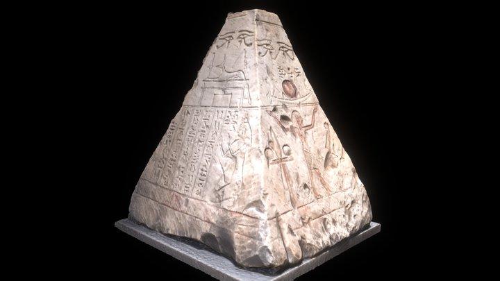 Hieroglyph Stone Pyramid 3D Model