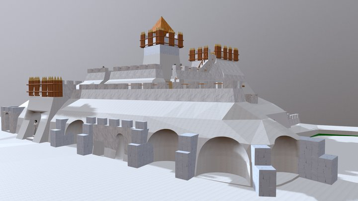 Snow castle. ZKP. Ver.7 3D Model