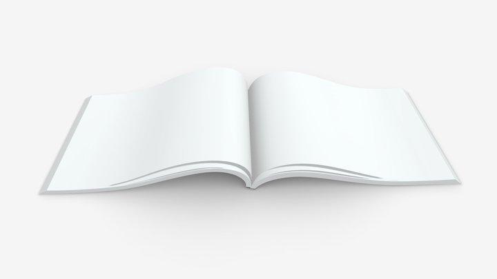 brochure opened size A5 01 3D Model