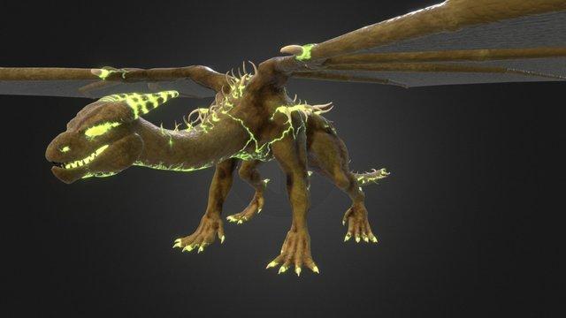 Fel Drake Tpose 3D Model