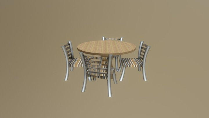 Table- Round 3D Model