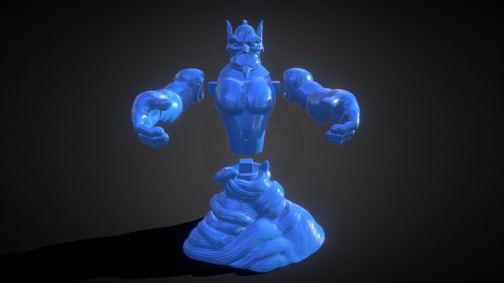 Aladdin's Genie Evil Mode (Separate Parts) 3D Model