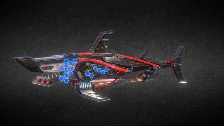 Robot Shark 3D Model