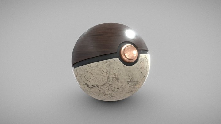 Elegant Pokeball 3D Model