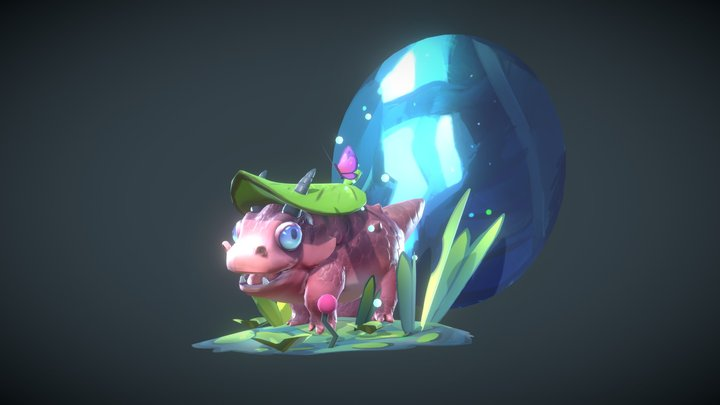 Puff the wingless dragon 3D Model