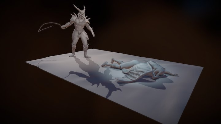 Demon and Angel - #AngelsAndDemonsChallenge 3D Model