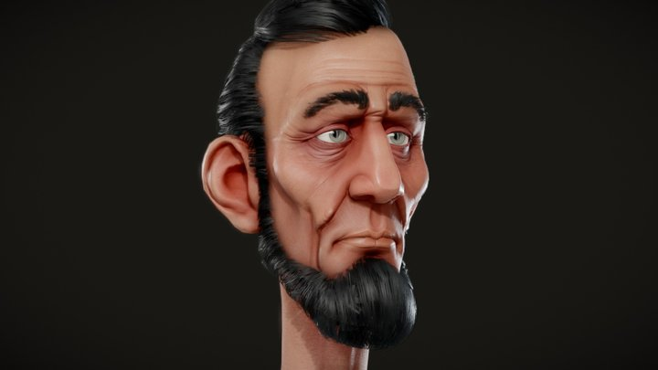 Stylized Lincoln 3D Model